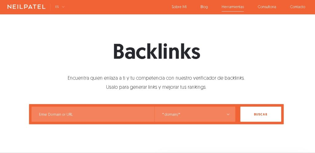 backlinks de una web ubersuggest